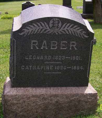 RABER, CATHARINE - Stark County, Ohio | CATHARINE RABER - Ohio Gravestone Photos