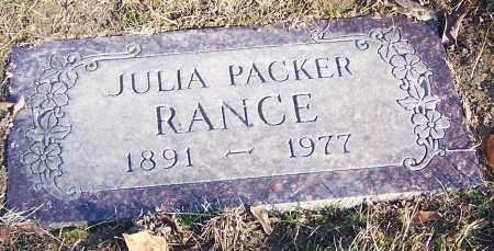 RANCE, JULIA PACKER - Stark County, Ohio | JULIA PACKER RANCE - Ohio Gravestone Photos