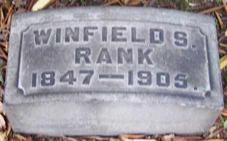 RANK, WINFIELD S. - Stark County, Ohio | WINFIELD S. RANK - Ohio Gravestone Photos