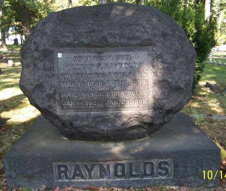 RAYNOLDS, WILLIAM F. - Stark County, Ohio | WILLIAM F. RAYNOLDS - Ohio Gravestone Photos