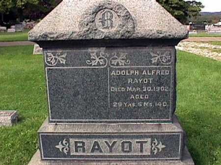 RAYOT, ADOLPH ALFRED - Stark County, Ohio | ADOLPH ALFRED RAYOT - Ohio Gravestone Photos