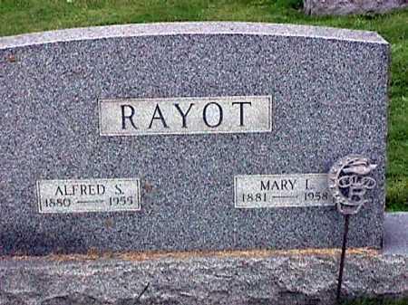 RAYOT, ALFRED S. - Stark County, Ohio | ALFRED S. RAYOT - Ohio Gravestone Photos
