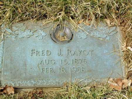 RAYOT, FREDERICK JOHN - Stark County, Ohio | FREDERICK JOHN RAYOT - Ohio Gravestone Photos