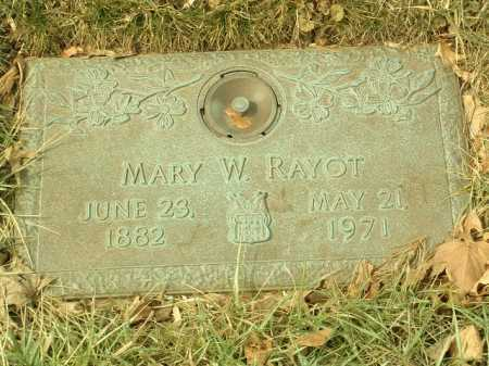 CREED RAYOT, MARY WILLIE - Stark County, Ohio | MARY WILLIE CREED RAYOT - Ohio Gravestone Photos