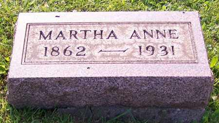 REAM, MARTHA ANNE - Stark County, Ohio | MARTHA ANNE REAM - Ohio Gravestone Photos