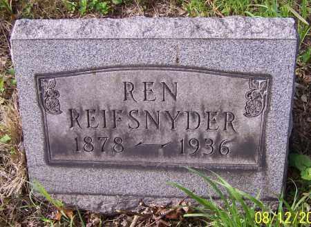 REIFSNYDER, REN - Stark County, Ohio | REN REIFSNYDER - Ohio Gravestone Photos