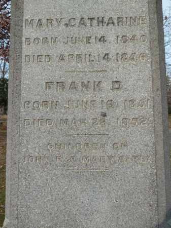 REX, FRANK D - Stark County, Ohio | FRANK D REX - Ohio Gravestone Photos