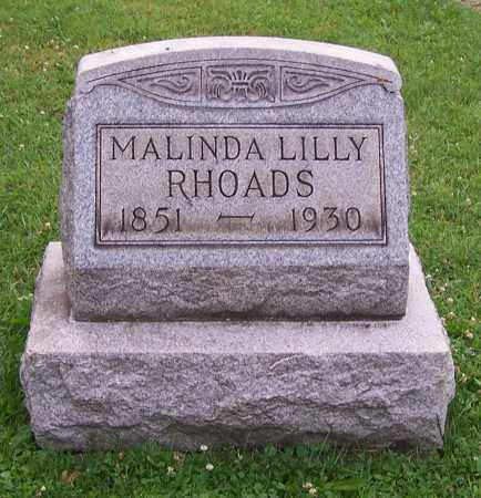 LILLY RHOADS, MALINDA LILLY - Stark County, Ohio | MALINDA LILLY LILLY RHOADS - Ohio Gravestone Photos