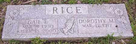 RICE, DOROTHY M. - Stark County, Ohio | DOROTHY M. RICE - Ohio Gravestone Photos