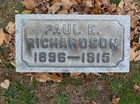 RICHARDSON, PAUL E. - Stark County, Ohio | PAUL E. RICHARDSON - Ohio Gravestone Photos