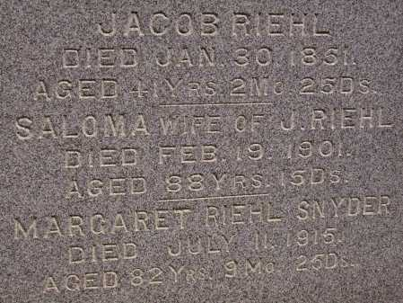 RIEHL, JACOB - CLOSEVIEW - Stark County, Ohio | JACOB - CLOSEVIEW RIEHL - Ohio Gravestone Photos