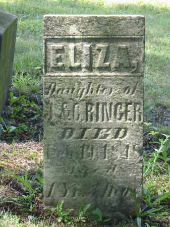 RINGER, ELIZA - Stark County, Ohio | ELIZA RINGER - Ohio Gravestone Photos