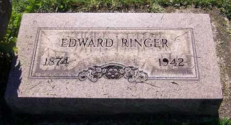 RINGER, EDWARD - Stark County, Ohio | EDWARD RINGER - Ohio Gravestone Photos