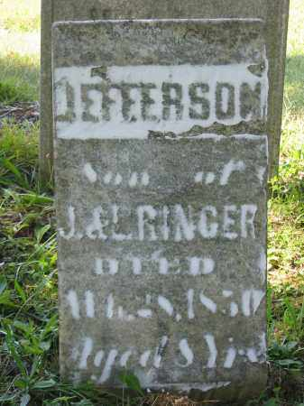 RINGER, JEFFERSON - Stark County, Ohio | JEFFERSON RINGER - Ohio Gravestone Photos
