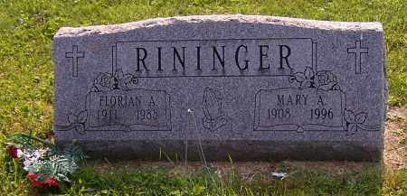 RININGER, MARY A. - Stark County, Ohio | MARY A. RININGER - Ohio Gravestone Photos