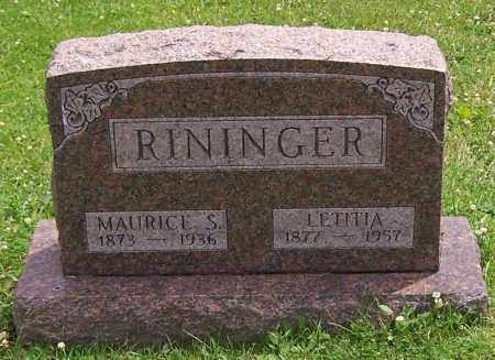 RININGER, LETITIA - Stark County, Ohio | LETITIA RININGER - Ohio Gravestone Photos