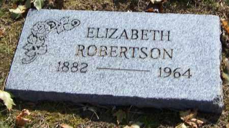 ROBERTSON, ELIZABETH - Stark County, Ohio | ELIZABETH ROBERTSON - Ohio Gravestone Photos