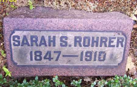 ROHRER, SARAH S. - Stark County, Ohio | SARAH S. ROHRER - Ohio Gravestone Photos