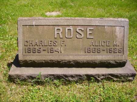 ROSE, ALICE M. - Stark County, Ohio | ALICE M. ROSE - Ohio Gravestone Photos