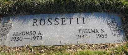 ROSSETTI, THELMA N - Stark County, Ohio | THELMA N ROSSETTI - Ohio Gravestone Photos