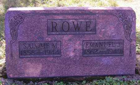 ROWE, EMANUEL J. - Stark County, Ohio | EMANUEL J. ROWE - Ohio Gravestone Photos