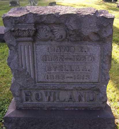ROWLAND, DAVID E. - Stark County, Ohio | DAVID E. ROWLAND - Ohio Gravestone Photos