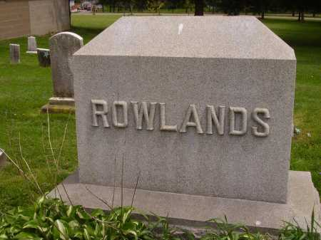 ROWLANDS FAMILY, MONUMENT - Stark County, Ohio | MONUMENT ROWLANDS FAMILY - Ohio Gravestone Photos