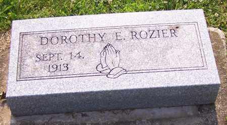 ROZIER, DOROTHY E. - Stark County, Ohio   DOROTHY E. ROZIER - Ohio Gravestone Photos