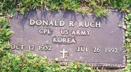RUCH, DONALD R.  (MIL)  (GT) - Stark County, Ohio | DONALD R.  (MIL)  (GT) RUCH - Ohio Gravestone Photos