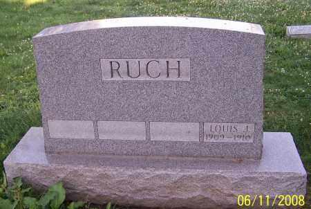 RUCH, LOUIS J. - Stark County, Ohio | LOUIS J. RUCH - Ohio Gravestone Photos