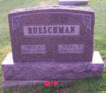 RUESCHMAN, FRED A. - Stark County, Ohio | FRED A. RUESCHMAN - Ohio Gravestone Photos
