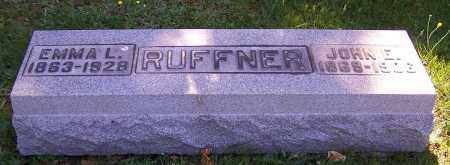 RUFFNER, JOHN E. - Stark County, Ohio | JOHN E. RUFFNER - Ohio Gravestone Photos