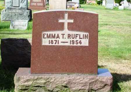 RUFLIN, EMMA T. - Stark County, Ohio | EMMA T. RUFLIN - Ohio Gravestone Photos