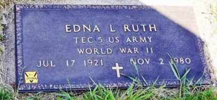 RUTH, EDNA L. - Stark County, Ohio | EDNA L. RUTH - Ohio Gravestone Photos