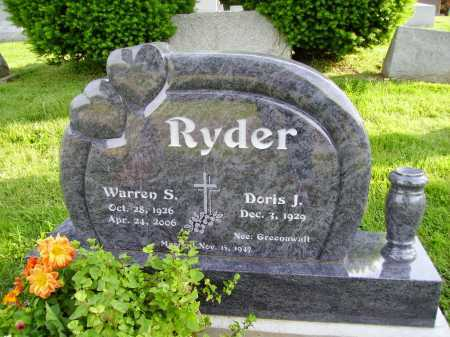 GREENAWALT RYDER, DORIS J. - Stark County, Ohio | DORIS J. GREENAWALT RYDER - Ohio Gravestone Photos