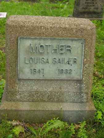SAILER, LOUISA - Stark County, Ohio | LOUISA SAILER - Ohio Gravestone Photos