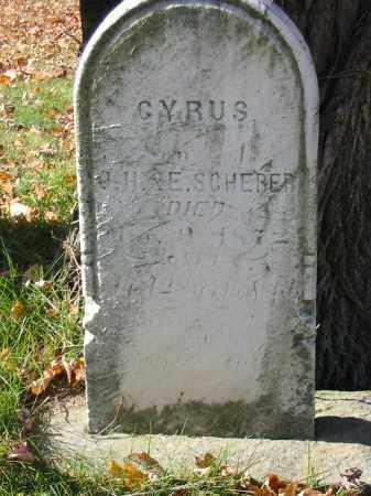 SCHERER, CYRUS - Stark County, Ohio | CYRUS SCHERER - Ohio Gravestone Photos