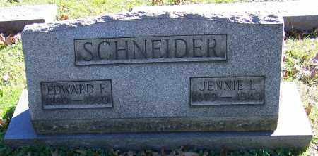 SCHNEIDER, EDWARD F. - Stark County, Ohio | EDWARD F. SCHNEIDER - Ohio Gravestone Photos
