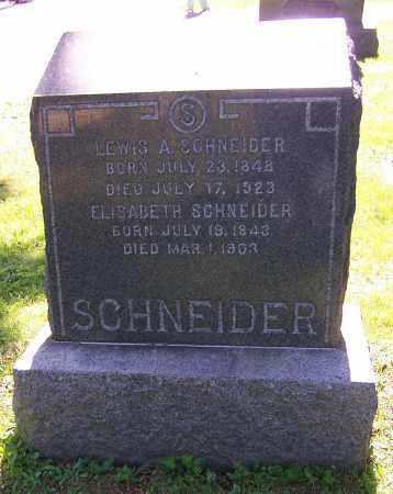 SCHNEIDER, ELIZABETH - Stark County, Ohio | ELIZABETH SCHNEIDER - Ohio Gravestone Photos