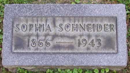 SCHNEIDER, SOPHIA - Stark County, Ohio | SOPHIA SCHNEIDER - Ohio Gravestone Photos