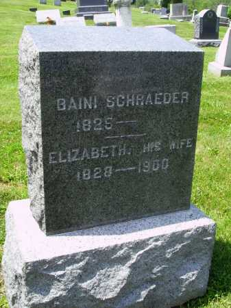SCHRAEDER, ELIZABETH - Stark County, Ohio | ELIZABETH SCHRAEDER - Ohio Gravestone Photos