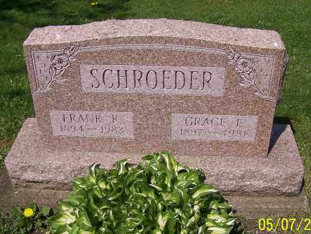SCHROEDER, GRACE E. - Stark County, Ohio | GRACE E. SCHROEDER - Ohio Gravestone Photos