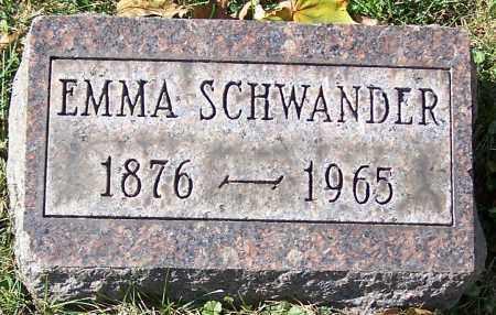 SCHWANDER, EMMA - Stark County, Ohio | EMMA SCHWANDER - Ohio Gravestone Photos