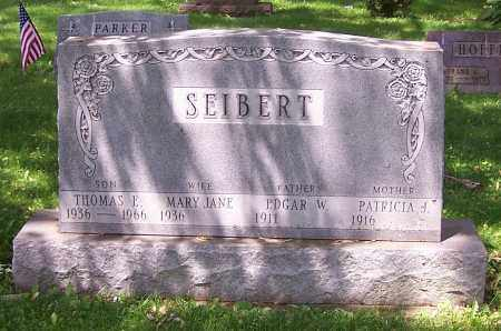 SEIBERT, EDGAR W. - Stark County, Ohio | EDGAR W. SEIBERT - Ohio Gravestone Photos