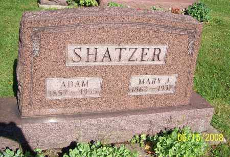 SHATZER, ADAM - Stark County, Ohio | ADAM SHATZER - Ohio Gravestone Photos