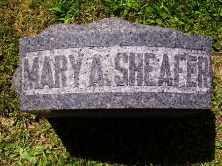 SHEAFER, MARY A. - TOP VIEW - Stark County, Ohio | MARY A. - TOP VIEW SHEAFER - Ohio Gravestone Photos