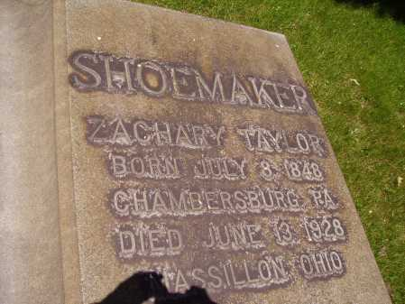 SHOEMAKER, ZACHARY TAYLOR - Stark County, Ohio | ZACHARY TAYLOR SHOEMAKER - Ohio Gravestone Photos