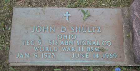 SHULTZ, JOHN D. - MILITARY - Stark County, Ohio | JOHN D. - MILITARY SHULTZ - Ohio Gravestone Photos