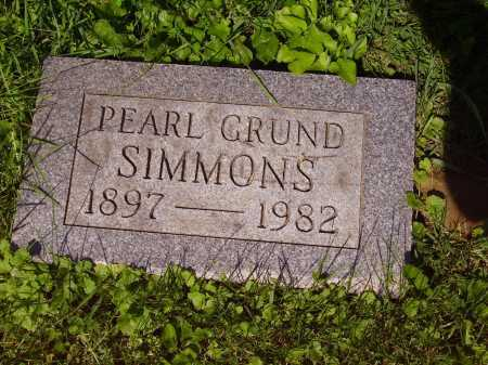 GRUND SIMMONS, PEARL - Stark County, Ohio | PEARL GRUND SIMMONS - Ohio Gravestone Photos