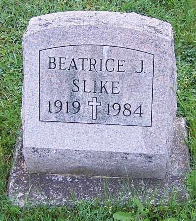 SLIKE, BEATRICE J. - Stark County, Ohio | BEATRICE J. SLIKE - Ohio Gravestone Photos